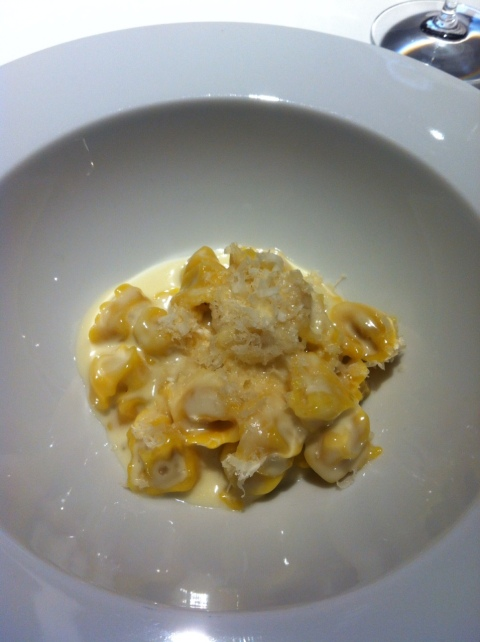 Osteria Francescana - Traditional Modenese tortellini in cream of Parmigiano Reggiano